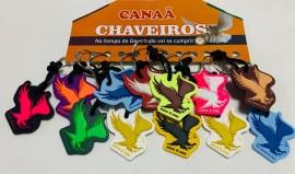 Chaveiro borracha colorida Águia , 12 pcs