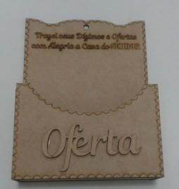 Porta envelope oferta madeira,.cada