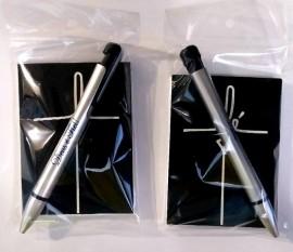 Kit bloco de anotação palavra fé ,com caneta,cada