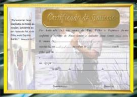 Certificado de Batismo,cada