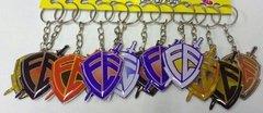 Chaveiro chapinha Escudo da fé colorido,com 12 pçs