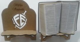 Porta Bíblia madeira escudo da fé,cada