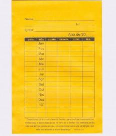 Envelope Dizimos anual Grande,com 100 pçs