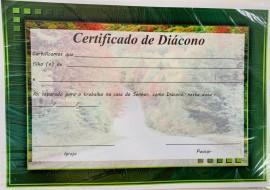 Certificado Diácono c/10 pçs