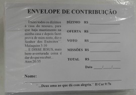 Envelope de oferta branco,com 100 pçs