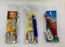 Kit caneta chaveiro pastor,cada