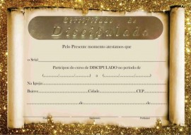 Certificado de Discipulado,cada