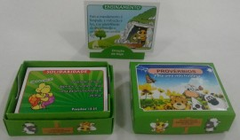 Caixa de promessa (provébios) verde,cada