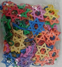 Chaveiro e.v.a estrela com 100 pçs