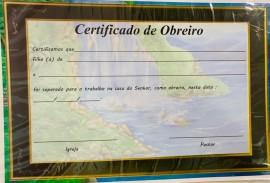 Certificado Obreiro c/10 pçs