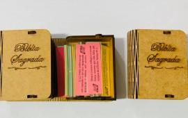 Caixa promessa Bíblia de madeira,cada