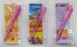 kit caneta com marca página mulher virtuosa