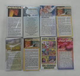 Folhetos de evangelização,com 100 pçs,cada