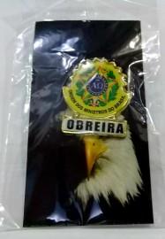Boton especial com brasão,OBREIRA