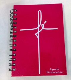 Agenda permanente Rosa palavra fé  grande