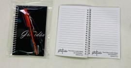 kit caderneta palavra gratidão( preto) com caneta
